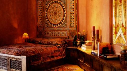Оформление спальни в индийском стиле