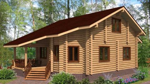 Закажите строительство бревенчатого дома по типовому или индивидуальному проекту на 300 000 рублей дешевле