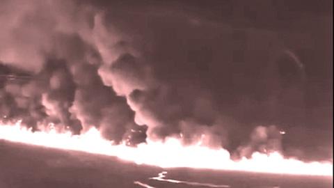 Нефтепровод в огне