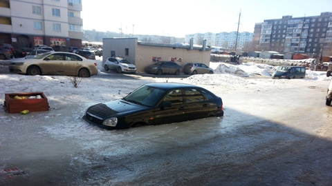 Саратов ушёл под воду и лёд