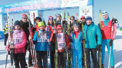 «Лыжня России» собирает друзей спорта