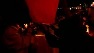 Запуск фонариков на набережной
