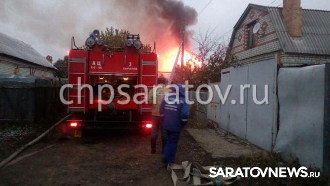 Наутреннем пожаре вСаратове пострадал мужчина