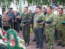 В Марксе на День пограничника состоялось многолюдное шествие