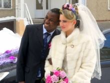 Жительница Красноармейска бракосочеталась с беженцем из Конго