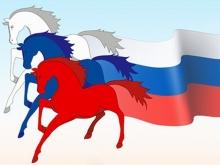 """На митинге в поддержку Крыма появился лозунг: """"Бандерлоговцы! Геть на свой Майдаун"""""""