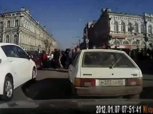 В центре Саратова пробка из-за аварии на Московской