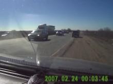 Несколько автомобилей столкнулись на Вольском тракте. Видео