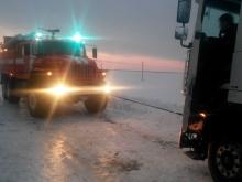 Метель на несколько часов заперла трассу Саратов-Волгоград