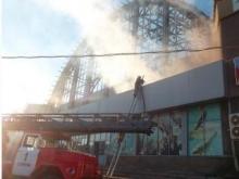 Восстанавливаемый после пожара Сенной загорелся повторно. Причины остаются неизвестными