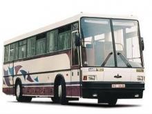 Водитель иномарки столкнулся с автобусом на встречной полосе