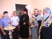 Митрополит Лонгин освятил комнату в ОВД Петровска
