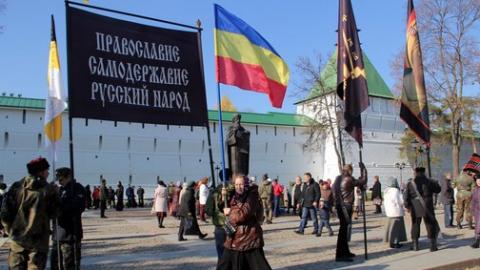 Казаки в Сергиевом Посаде вышли на крестный ход против ритуального убийства в Саратове