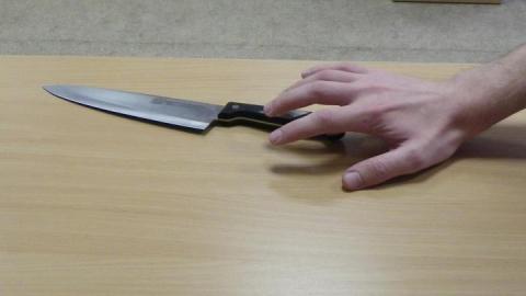 Женщина бросилась с ножом на отца