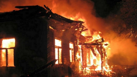 На пожаре в Большой Рельне погиб пожилой мужчина