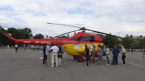 В Саратов на вертолете доставили тяжелобольного младенца
