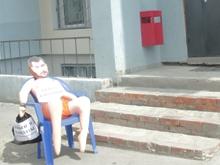 Доброжелатели подкинули коммунистам резиновую куклу с лицом Полещикова