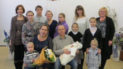 Многодетные родители в Саратове зарегистрировали десятого ребенка