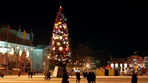 Через полчаса на Театральной площади протестируют городскую елку
