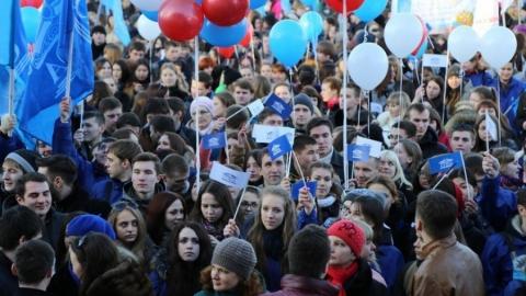 Студенты СГЮА приняли участие в митинге в честь годовщины присоединения Крыма