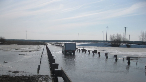 В Саратовской области вода Медведицы перелила два моста