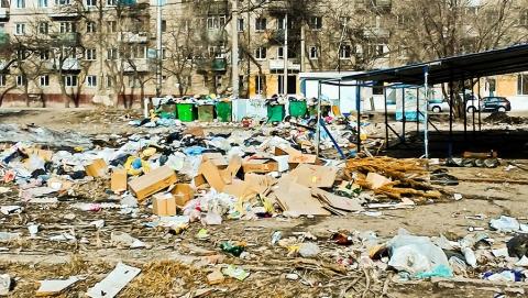 Жители 3-го жилучастка жалуются на свалку, накопившуюся с Нового года