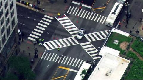 На дорогах появятся диагональные переходы и островки безопасности