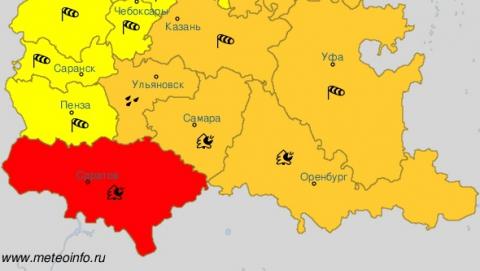 В Саратовской области самая пожароопасная погода в Приволжье