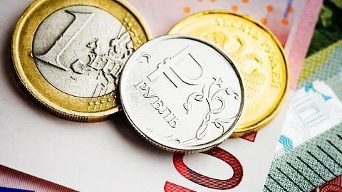Евро засчитанные часы упал вцене на3 рубля
