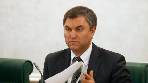 Вячеслав Володин рекомендовал региональным единороссам чистку рядов