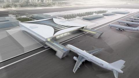 Для аэропорта в Сабуровке построят железнодорожную станцию