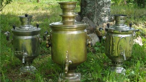 Бомж украл с дачи самовар XIX века