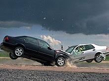 """""""Девятка"""" протаранила встречный автомобиль. Пассажир погиб"""