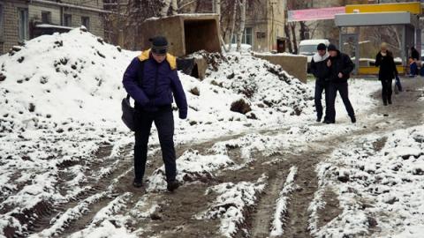 На неделе в Саратове дожди вновь сменятся снегопадами