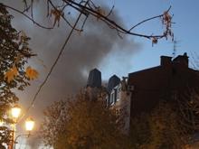 Пожар угрожает целому кварталу проспекта Кирова