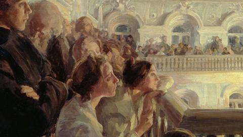 Почтенная публика приглашается посетить театръ или консерваторiю.