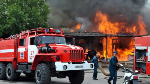 Натерритории «Ассамблеи» вЭнгельсе сгорела баня
