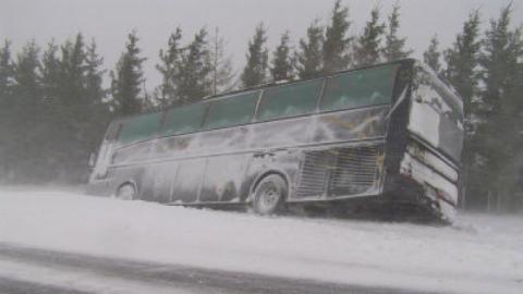 ВСаратовской области сегодня перевернулся пассажирский автобус