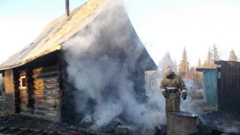 28 пожарных потушили пожар в двух банях