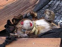 На пожаре погибли малолетниие брат с сестрой