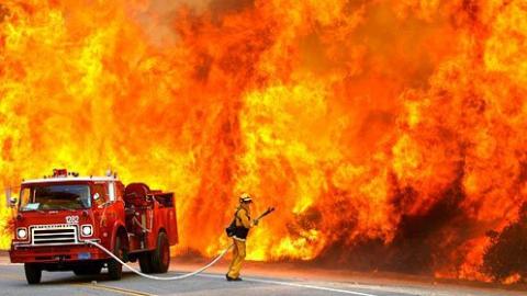 Женщина получила ожоги напожаре впоселке Латухино