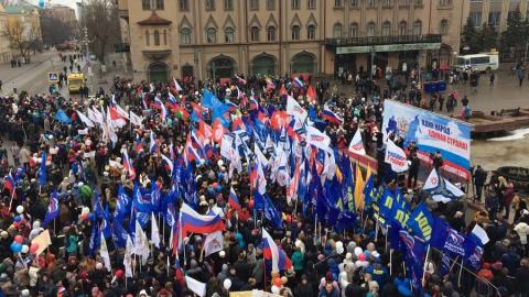 Саратовцы вышли намитинг вподдержку воссоединения Крыма сРоссией