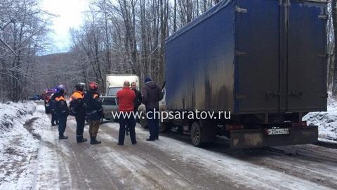 ВСаратове наКумысной поляне столкнулись семь авто