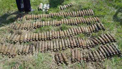 ВСаратовском районе бойцы ОМОНа уничтожили 170 артиллерийских снарядов