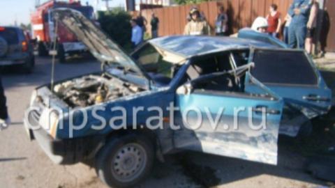 Четыре человека пострадали в массовой аварии в Вольске