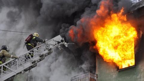 В Романовке сгорела столовая площадью 100 квадратных метров