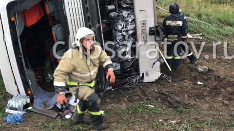 Число пострадавших вДТП сучастием автобуса под Саратовом возросло до11