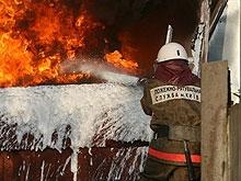 В центре города сгорел старый жилой дом
