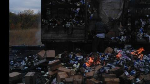 На трассе у села Мокроус сгорел грузовик с прокладками