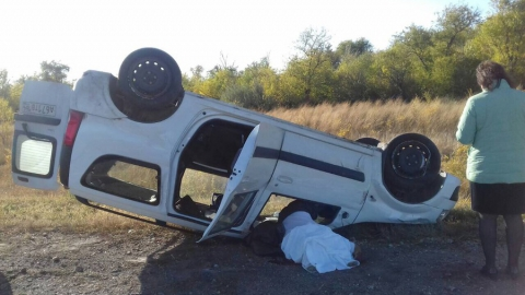 Водитель погиб при опрокидывании легковушки на трассе